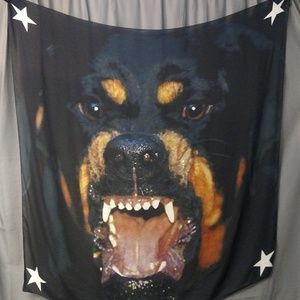 "Givenchy Accessories - Givenchy Rottweiler Square Scarf 48"" Pre-Owned"